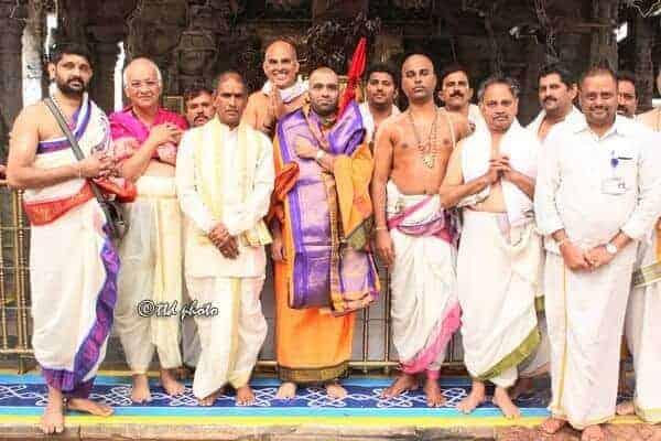 H.H Shri Swamiji's visit to Shri Kshetra Tirumala