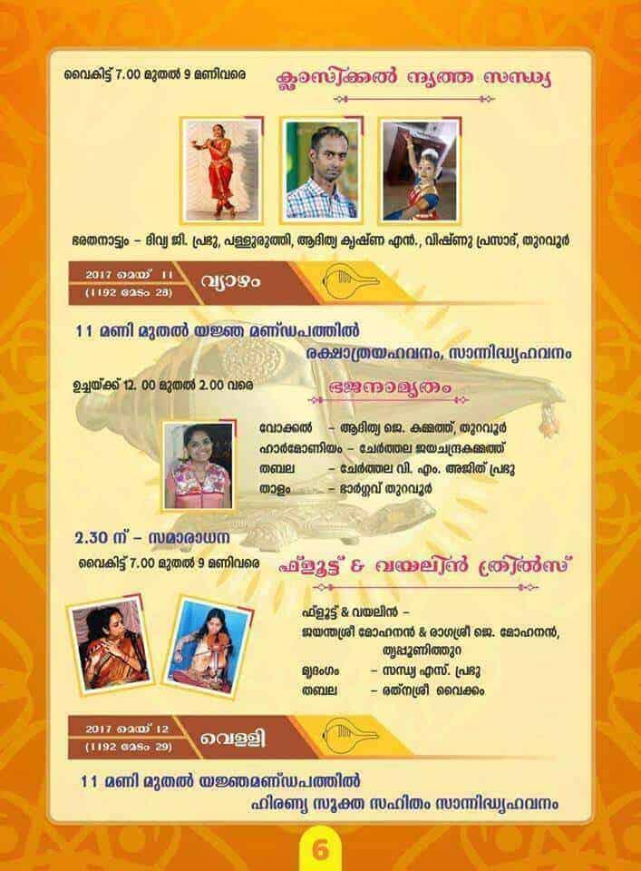 Sahasra Sankhabhishek of Sri Lakshmi Narasimha at Thuravoor